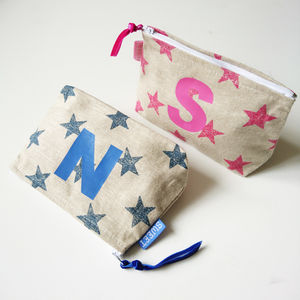 Personalised Stars Make Up Bag