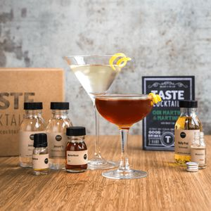 Gin Martini And Martinez Cocktail Box
