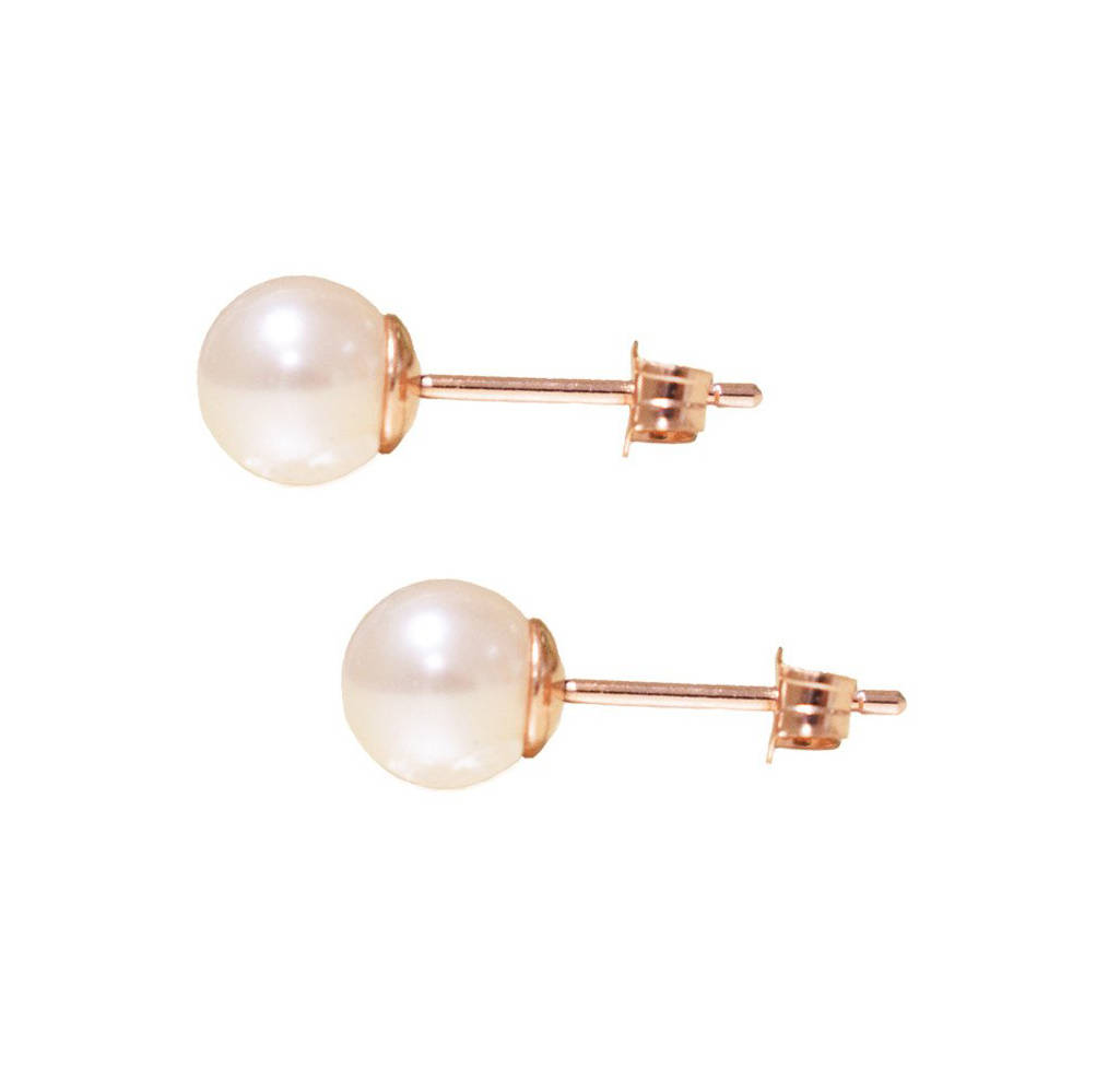 pearl in golden yellow winterson carat south earrings gold stud sea