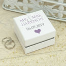 Personalised 'Mr And Mrs' Wedding Ring Box