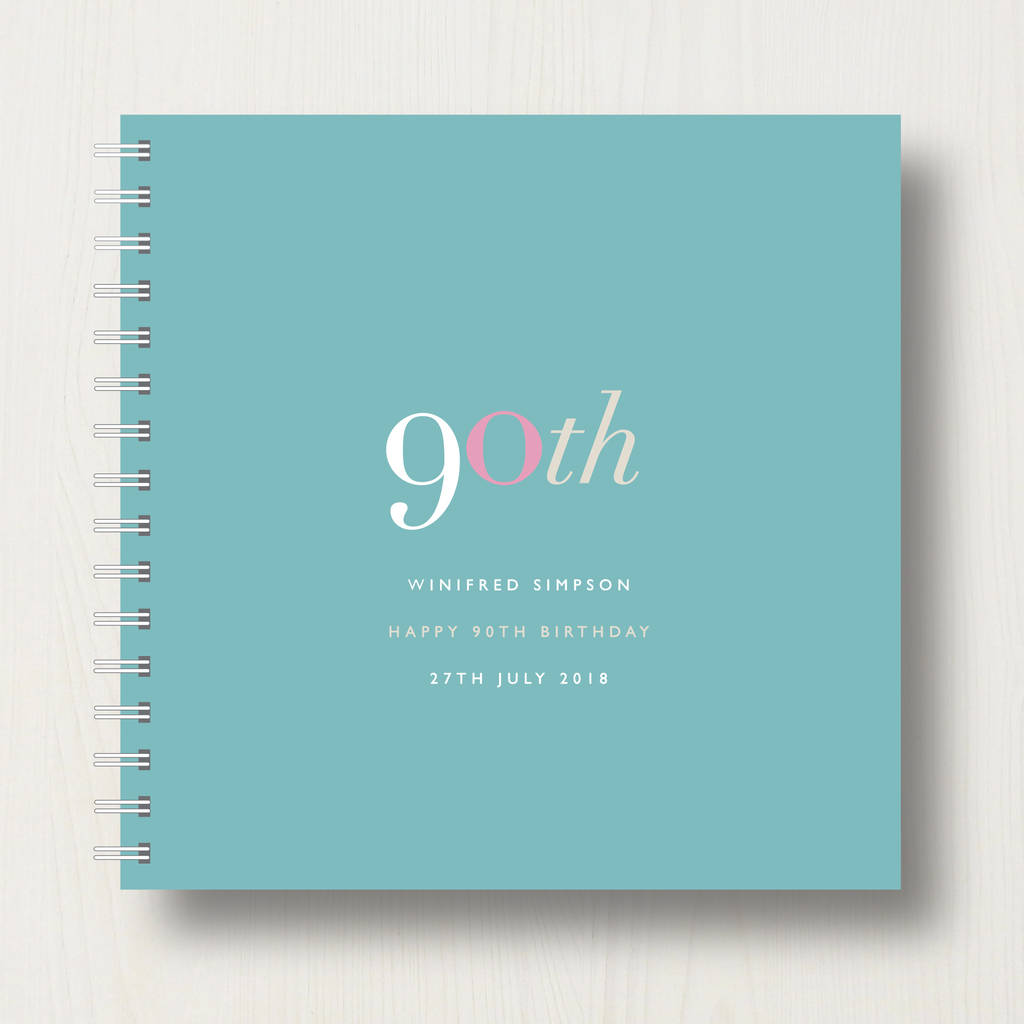 Personalised 90th Birthday Memory Book Or Album