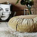 Round Pleated Circle Velvet Cushion