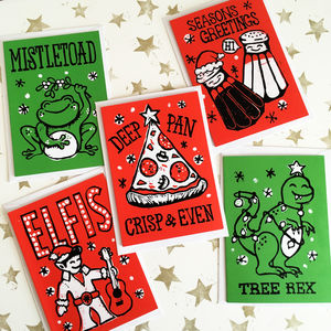 Funny Christmas Cracker Joke Cards Pack Of Five Or 10 - cards & wrap