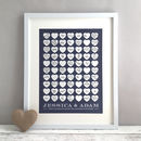 Personalised Heart Wedding Guest Book Print