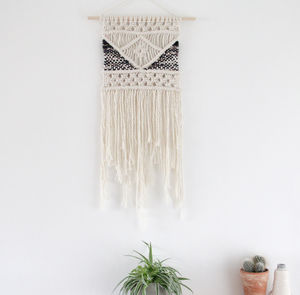 Bohemian Wall Hanging With Woven Detail