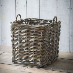 Rattan Basket Assorted Sizes - log baskets
