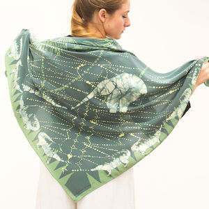 'The Elephant's Child' Silk Scarf