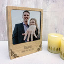 Personalised Wooden Roses Photo Block