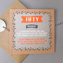 Funny Fifty Card