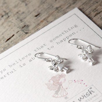 Fairy Sterling Silver Drop Earrings