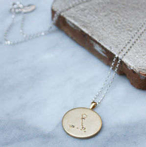 Constellation Necklace With Diamonds Pisces Star Sign