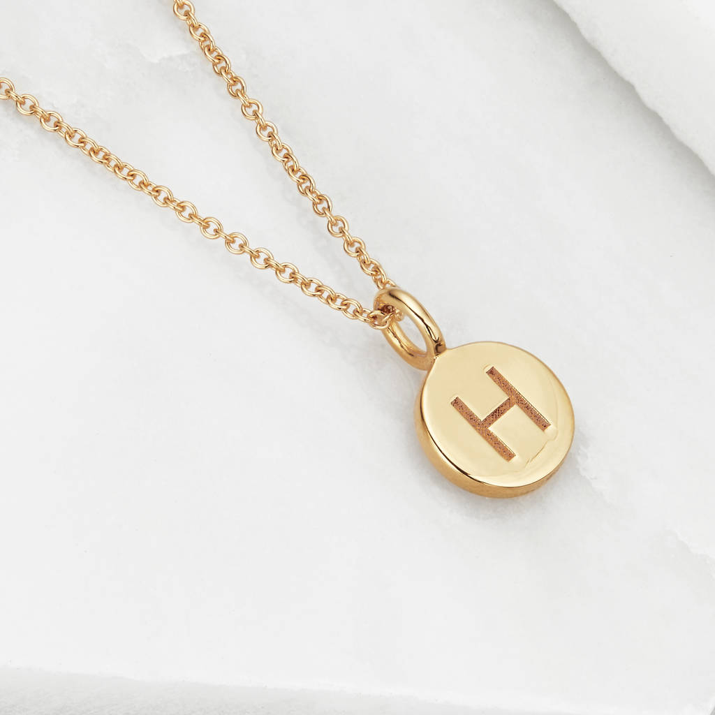 auree gold engraved with pendant westbourne disc necklace jewellery a rose initial