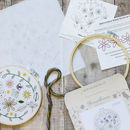 Wildflower Meadow Botanical Embroidery Craft Kit