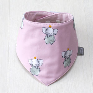 Rose The Elephant Reversible Dribble Bib