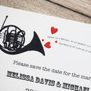 Music Lovers' Wedding Stationery