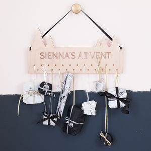 Personalised Christmas Tree Advent Calendar Hanger