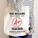 Personalised 'A+ Teacher' Tote Bag