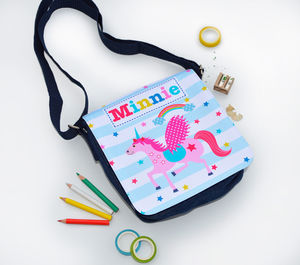 Girls Personalised Unicorn Denim Bag - gifts for children