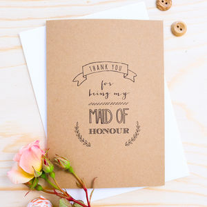 'Thank You For Being My Maid Of Honour' - weddings sale