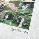 Personalised Wedding Anniversary Cotton Print