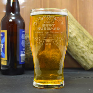 Best Husband Engraved Pint Glass