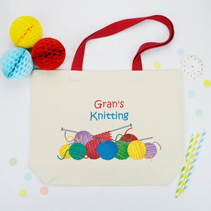 Personalised 'Knitting' Wool Bag - shopper bags