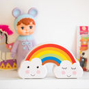 Rainbow And Clouds Money Box