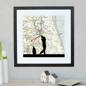 Personalised Golf Map Print - activities & sports