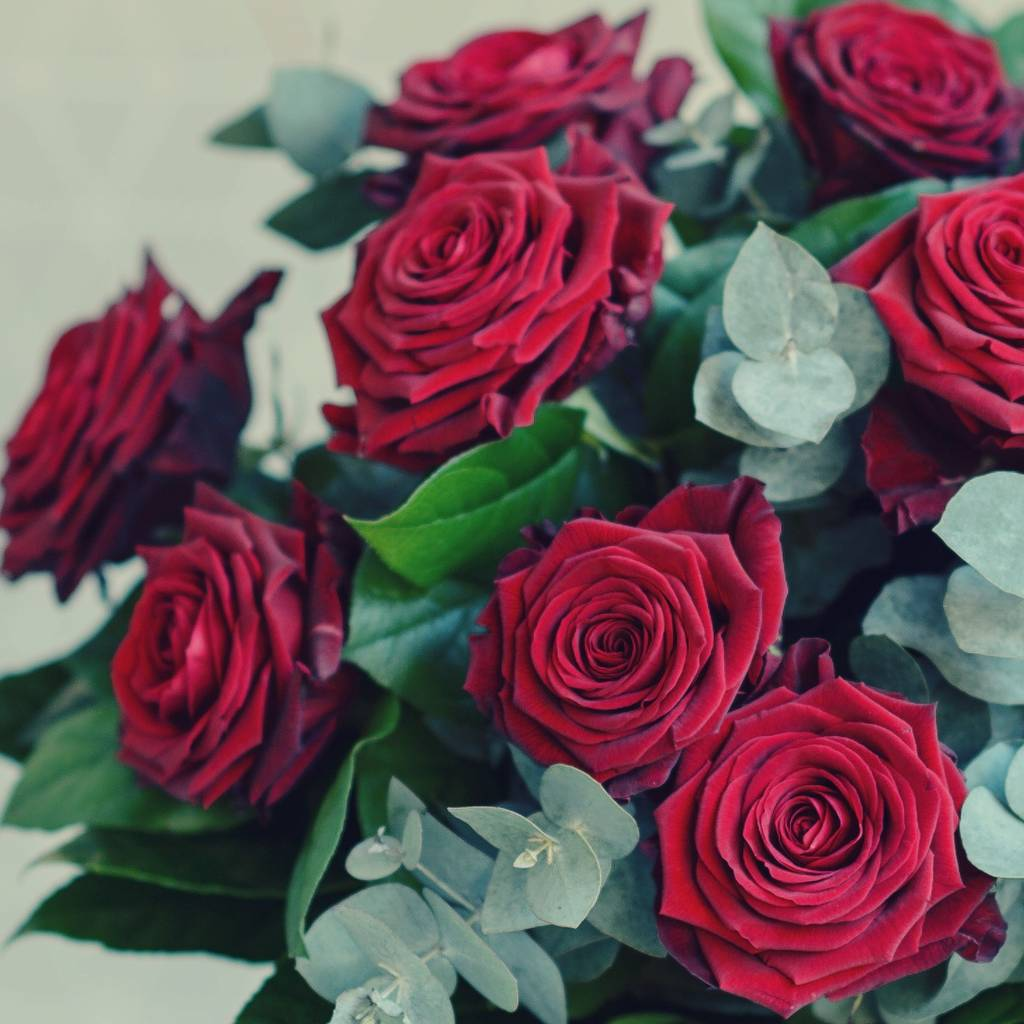 Grand love affair luxury red rose bouquet by the flower studio - Red garden rose bouquet ...