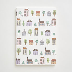 Town Houses Notebook In A6 And A5 Size