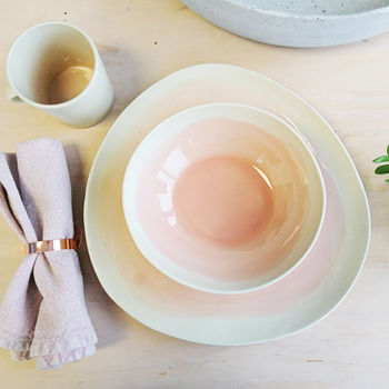 Handmade Blush Pink Ceramic Dining Set
