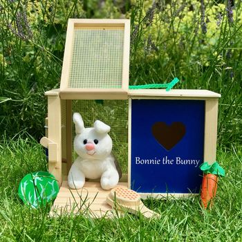 Personalised Wooden Toy Rabbit Hutch