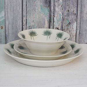 Botanical Bliss Fan Palm Leaf Dinner Service