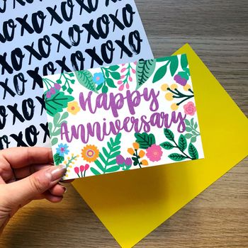 Colourful 'Happy Anniversary' Card