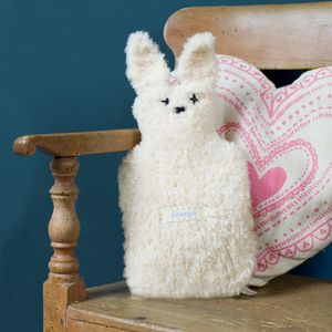 Children's Personalised Bunny Mini Hot Water Bottle - bedroom