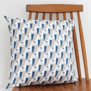 Owl Pattern Cushion - living room