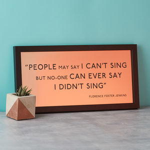 Metallic Favourite Quote Print Framed