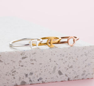 Mini Geometric Stacker Rings - stack and style
