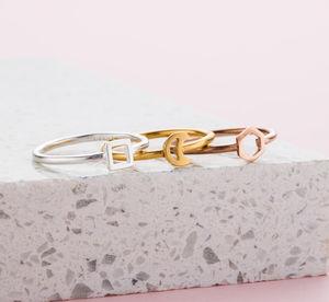 Mini Geometric Stacker Rings - rings