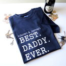 Personalised Best Daddy T Shirt