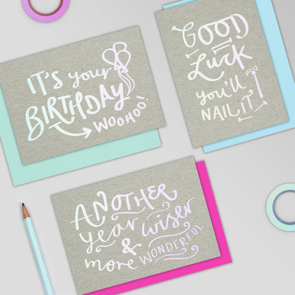 It's Your Birthday Woohoo! Holographic Card By Jane