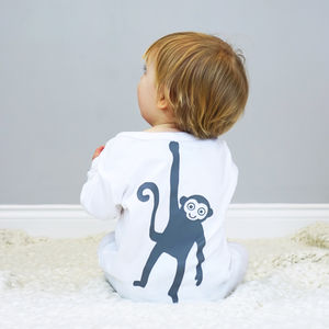 Monkey Baby Sleepsuit - summer sale