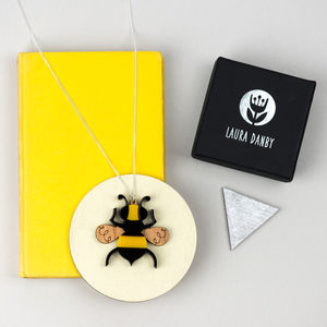Bumble Bee Necklace Or Insect Pendant - necklaces & pendants