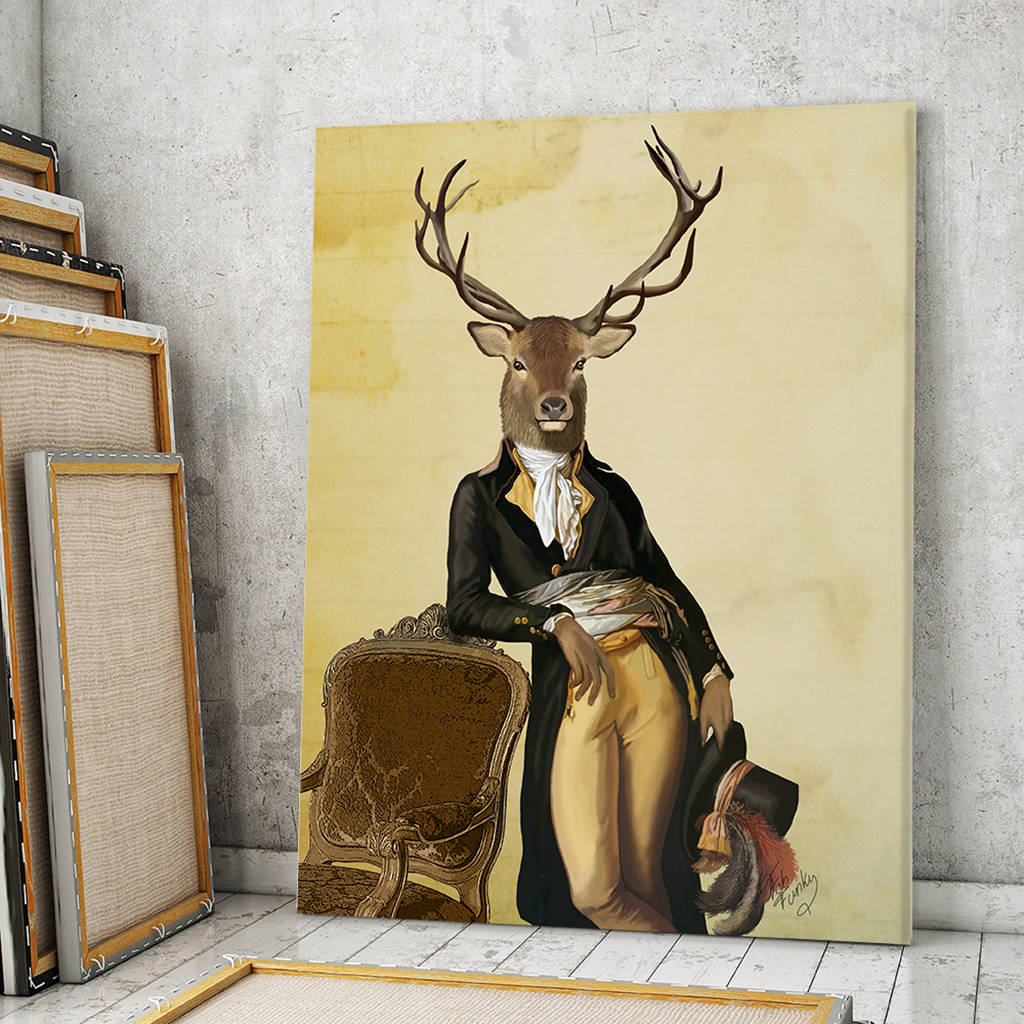 deer print, deer and chair by fabfunky home decor ...