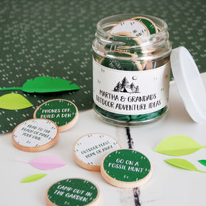 Personalised Grandad's Adventure Ideas Jar