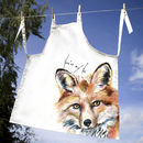 Inky Fox Apron With Optional Personalised Message
