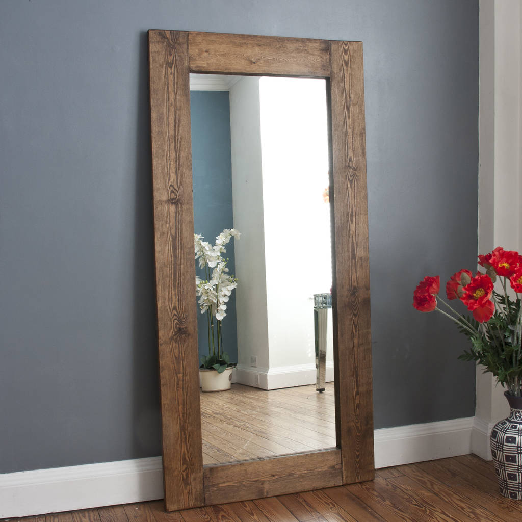 Kawena Wooden Mirror White Washed Or Dark Stained By
