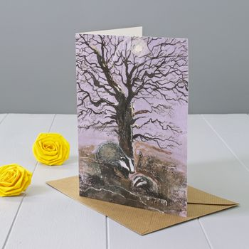 Badger Art Greeting Card
