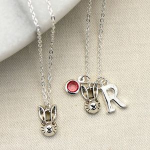 Personalised Rabbit Charm Necklace