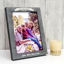Personalised Stone Effect Family Photo Frame